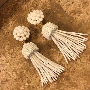 Lisi Lerch tassel earrings in white